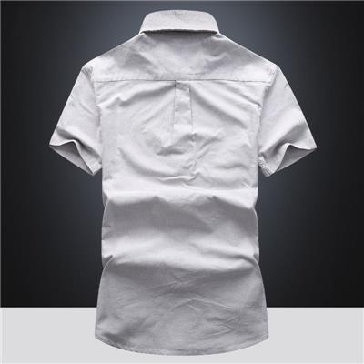 衬衫男短袖修身夏季韩版201新款潮流寸衫青年帅气休闲白衬衣男士