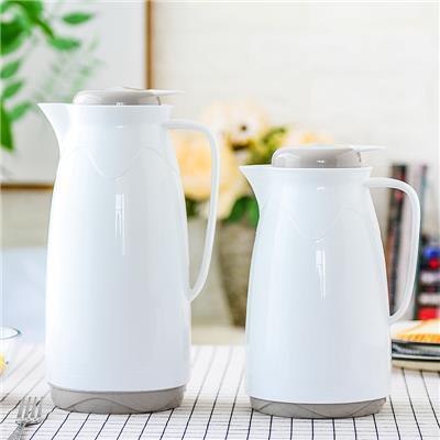 买一送一青苹果保温壶水壶家用保温瓶玻璃内胆热水瓶暖瓶大容量杯