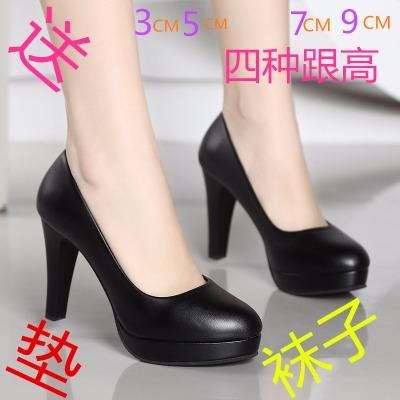 加绒高跟鞋女学生韩版女款皮鞋春大童女鞋冬水钻恨天高高跟鞋小女