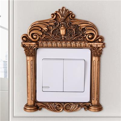 欧式创意卧室开关贴墙贴保护套家居装饰墙饰壁饰壁挂插座贴小饰品