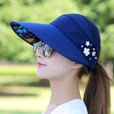 帽子女夏天休闲百搭潮防紫外线韩版春夏季可折叠防晒太阳帽遮阳帽
