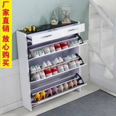 超薄鞋柜17cm翻斗柜时尚烤漆门厅柜带抽屉翻板柜多功能组合柜包邮