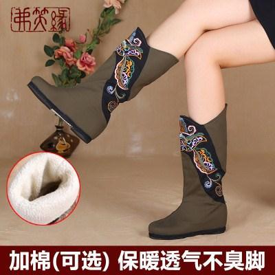 老北京布鞋女春季新款平跟民族风女鞋妈妈千层底复古绣花鞋女归塞