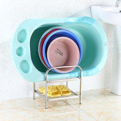 收纳婴儿洗澡盆钩收纳架整理挂盆式儿童浴卫生间洗澡盆墙上厕所放