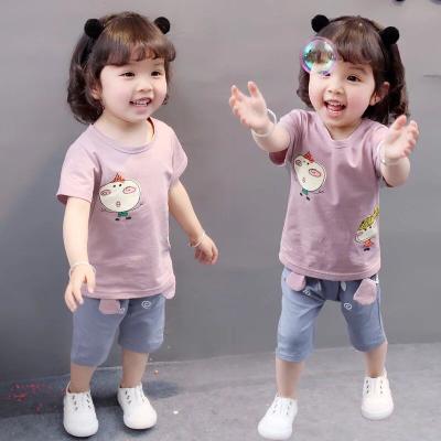 童装男童短袖套装新款0女宝宝婴儿童衣服两件套1-2-3-4岁半夏装潮