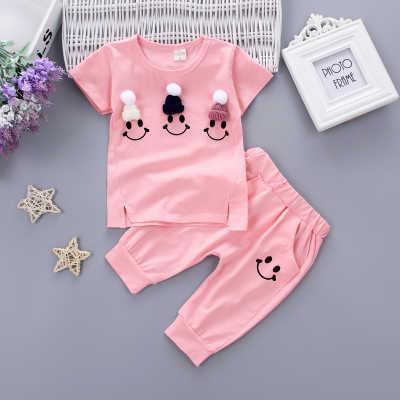 2019新款女童1夏装0女宝宝衣服2小女孩3岁婴儿童装短袖韩版套装潮