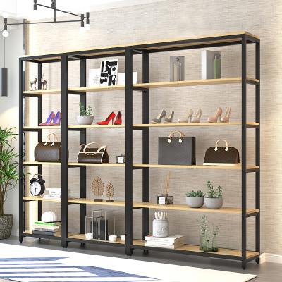 货架展示架包包鞋饰品化妆品架置物储物架中型货架母婴家纺展示柜
